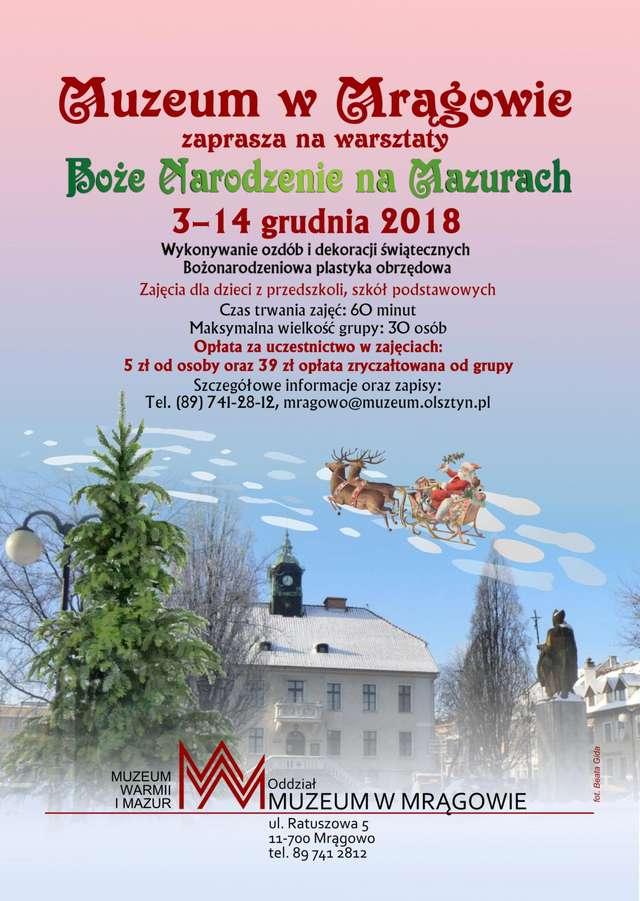 Warsztaty Bożonarodzeniowe 2018 w Mrągowie - full image