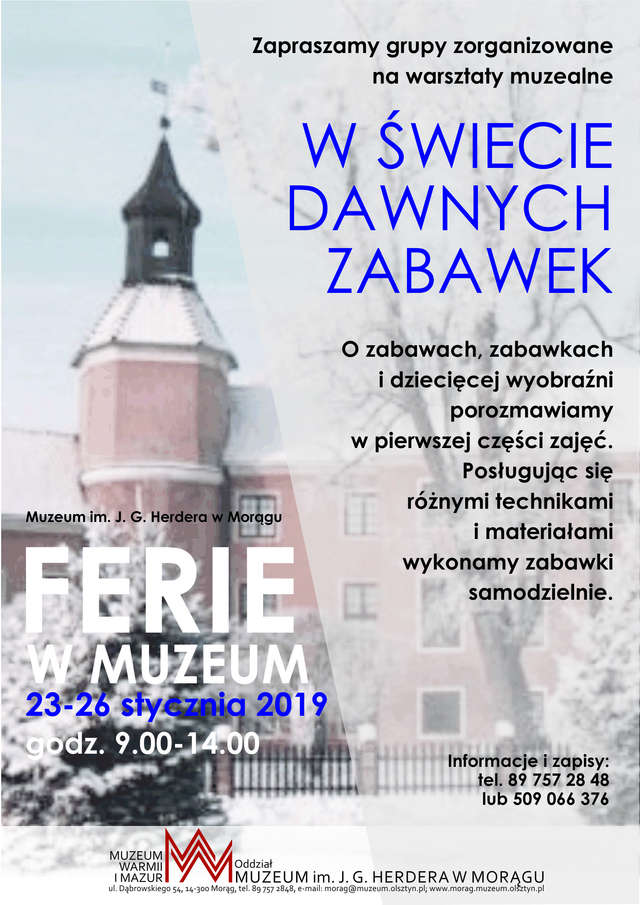 Ferie w Muzeum w Morągu - full image