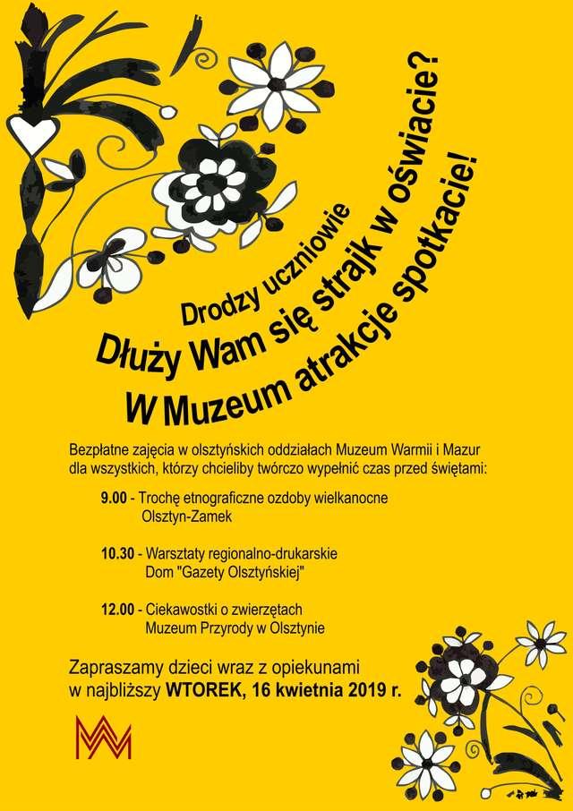 Bezpłatne zajęcia w olsztyńskich oddziałach Muzeum  - full image
