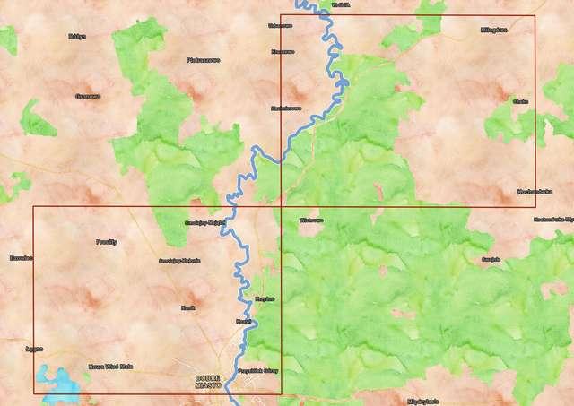 Mapa obszaru badań powierzchniowych w 2019 roku. - full image