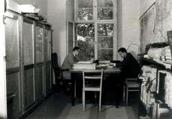 Pracownicy Muzeum Warmii i Mazur w Olsztynie, zdjęcie archiwalne.