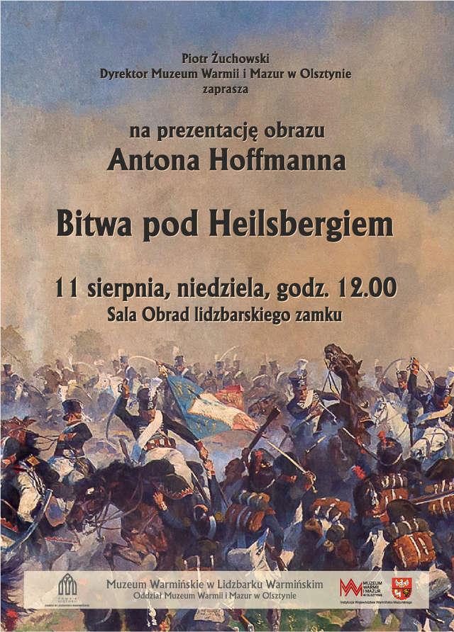 Prezentacja obrazu Antona Hoffmana Bitwa pod Heilsbergiem - full image
