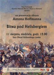 Prezentacja obrazu Antona Hoffmana Bitwa pod Heilsbergiem