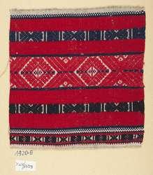 Fragment rękawa koszuli kobiecej; I poł. XX wieku; len, bawełna