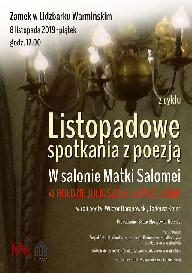 W salonie Matki Salomei. Listopadowe spotkania z poezją - full image