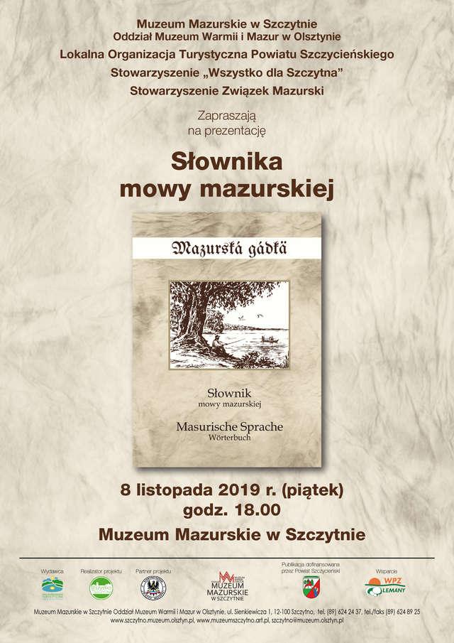 Prezentacja słownika mowy mazurskiej - full image