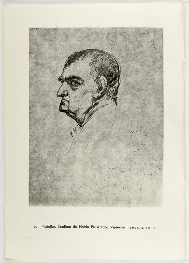 Jan Matejko, studium do Hołdu Pruskiego, popiersie mężczyzny. - full image