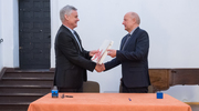Podpisanie umowy na remont krużganka olsztyńskiego zamku