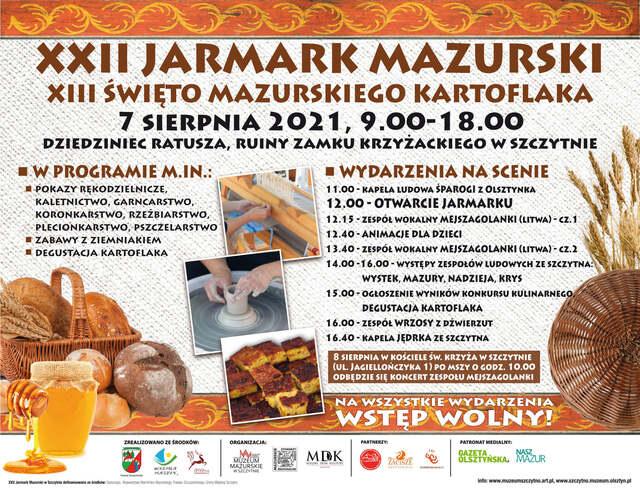 XXII Jarmark Mazurski. XIII Święto Mazurskiego Kartoflaka - full image