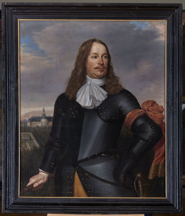 Portret Otto van Limburg Stirum Bronkhorst (ok. 1619- 27.08.1679) Lucas van Kaey 1660 r. Olej, płótno, 106 x 88 cm  - full image