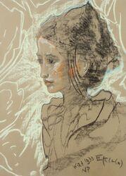 Portret Marii Białynickiej-Biruli, 1933, z kolekcji Muzeum Warmii i Mazur.