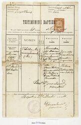 Świadectwo chrztu Witolda Niewiadomskiego. Lwów, 1911 rok. Ze zbiorów Domu Gazety Olsztyńskiej.