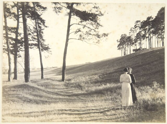 Jan Bułhak, Okolice Pałacu Tuskulanum, 1916 r., Wilno.  - full image